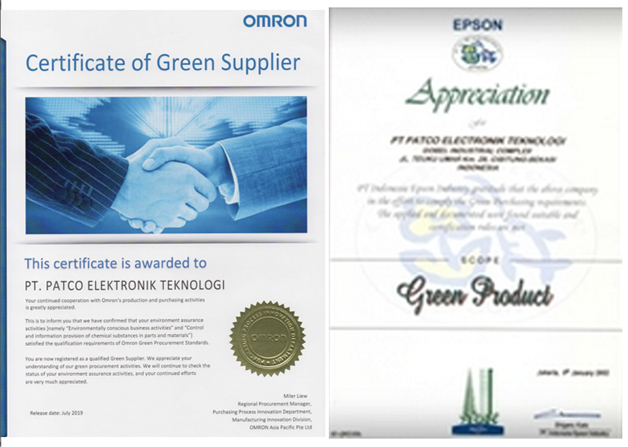 Green Supplier(OMRON) & Green Product(EPSON)