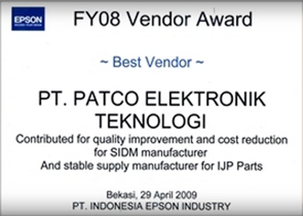 Award : Best Vendor INDONESIA