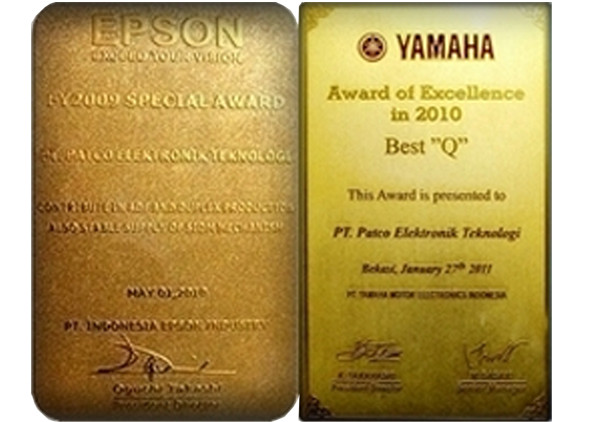 Special Award(Epson) & Award of Excellence(Yamaha)