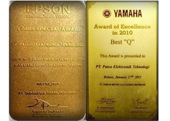 Special Award(Epson) & Award of Excellence(Yamaha)