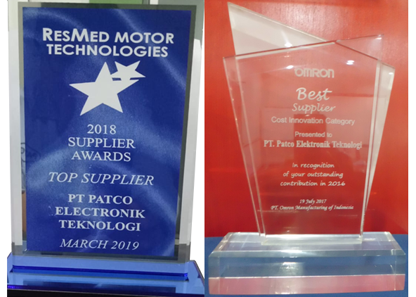 Award : Top Supplier(RESMED) &  Best Supplier(OMRON)